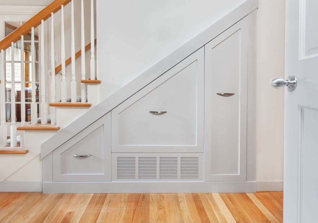 stairs with air vent